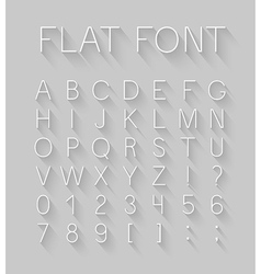 Flat font with long shadow effect vector