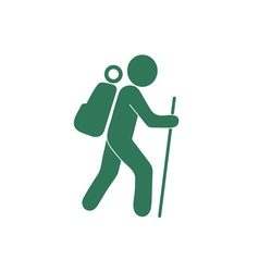 Hiking icon isolated sign symbol vector