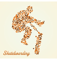 Abstract skateboarder in jump vector image