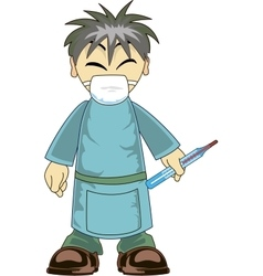 Asian Doctor vector image vector image