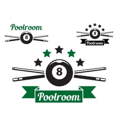 Billiard or snooker design vector