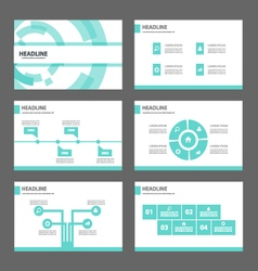 Blue Technology presentation templates Infographic vector image vector image