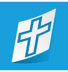 Christian cross sticker vector