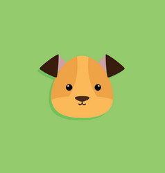 dog cartoon face vector image