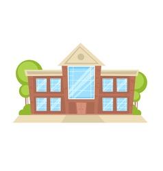 Flat cartoon building vector image