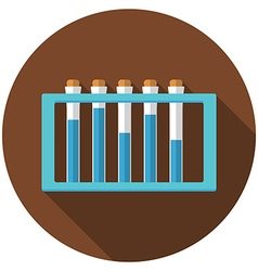 Flat design modern of laboratory samples icon with vector
