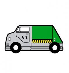 garbage truck vector image vector image