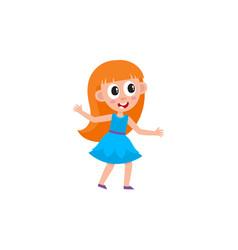 Girl dancing at party vector