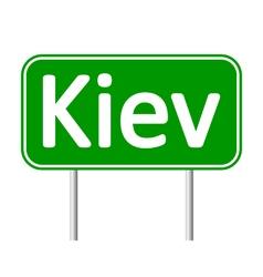 Kiev road sign vector