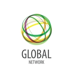 logo global network vector image vector image
