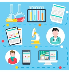 Online medical consultation and diagnosis vector image vector image