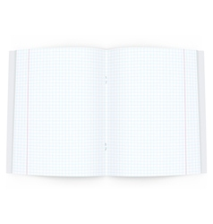 Open copy book on white background vector