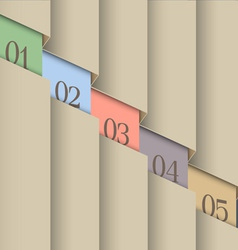 Paper number line background vector image vector image