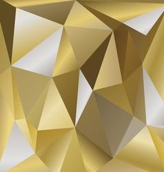 polygonal background bronze vector image
