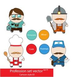 Profession set vector image