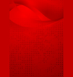 Red wavy grunge background vector