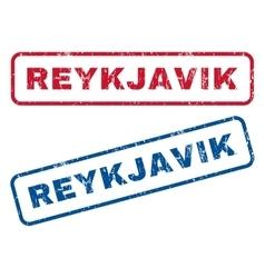 Reykjavik rubber stamps vector