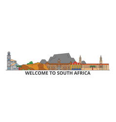 south africa outline skyline african flat thin vector image vector image