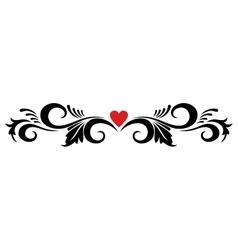 Vintage heart ornament vector