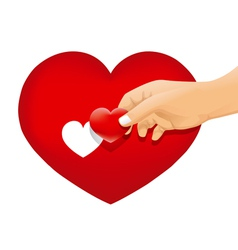 hand love vector image