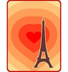 Eiffel tower in paris outline silhouette vector