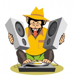 Monkey dj vector