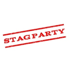 Stag party watermark stamp vector