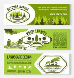 Landscape and outdoor nature design banners vector