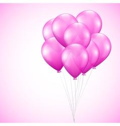 Background with pink balloons vector