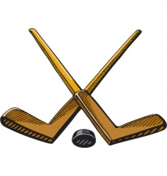 Hockey sticks vector