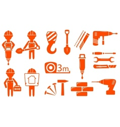 Construction industry set vector