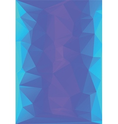 Abstract low poly letterhead vector