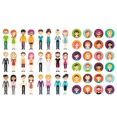 Collection of different men and women vector