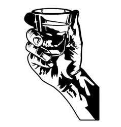 Holding a shot glass vector