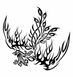 Tattoo with phoenix vector