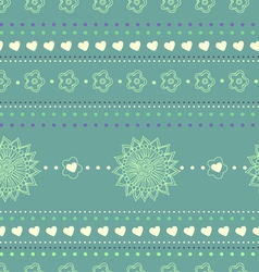 Floral seamless abstract hand drawn pattern vector image