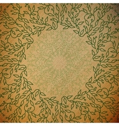Abstract green color wooden design Circle made vector image vector image