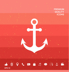 Anchor icon symbol vector