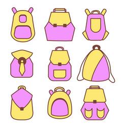 Backpack rucksack set vector