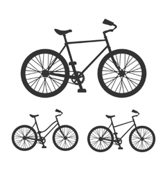 Bicycle silhouette set vector