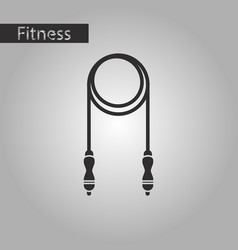 black and white style icon jump rope vector image vector image