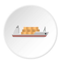 Cargo ship icon circle vector