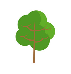 Cartoon tree natural environment eco image vector