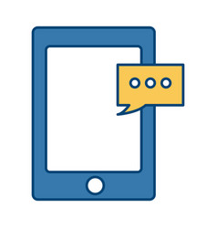 digital tablet pc delivery message chat order vector image