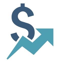 Dollar Growth Flat Icon vector image