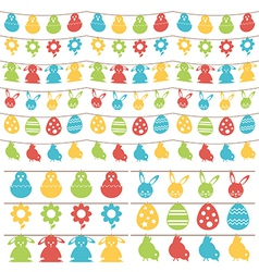easter bunting vector image