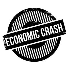 Economic crash rubber stamp vector