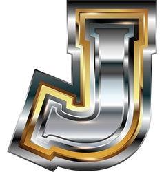 Fancy font letter j vector