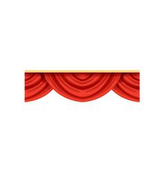 flat cartoon design element of red pelmets border vector image