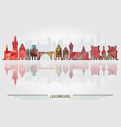 luxembourg city background vector image vector image